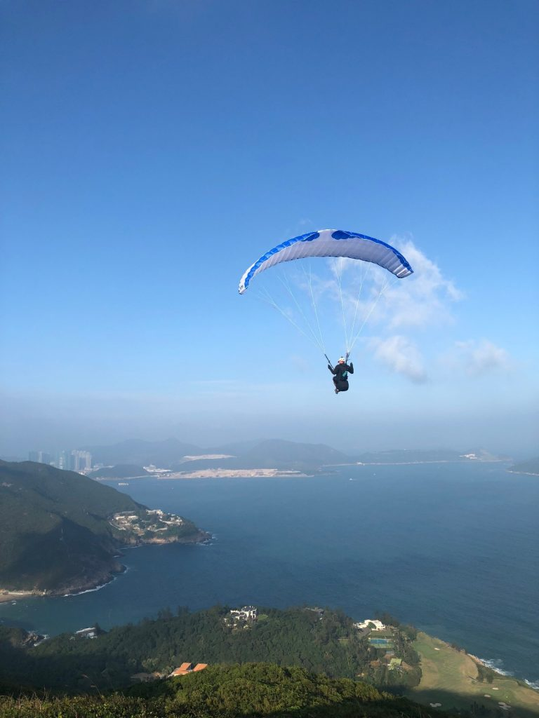 Try something new like hiking or paragliding
